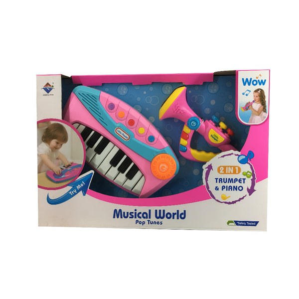 2 in 1 Trumpet and Piano Play Set