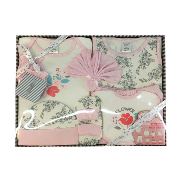 8 Piece Infant Girls Gift Set
