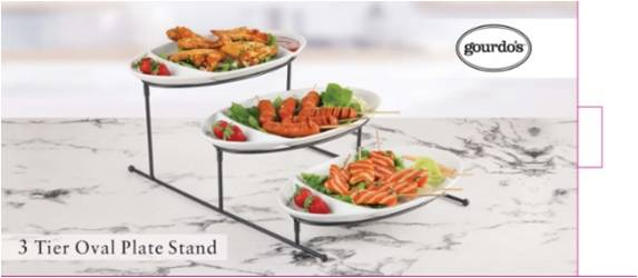 3 Tiered Snack Server Stand