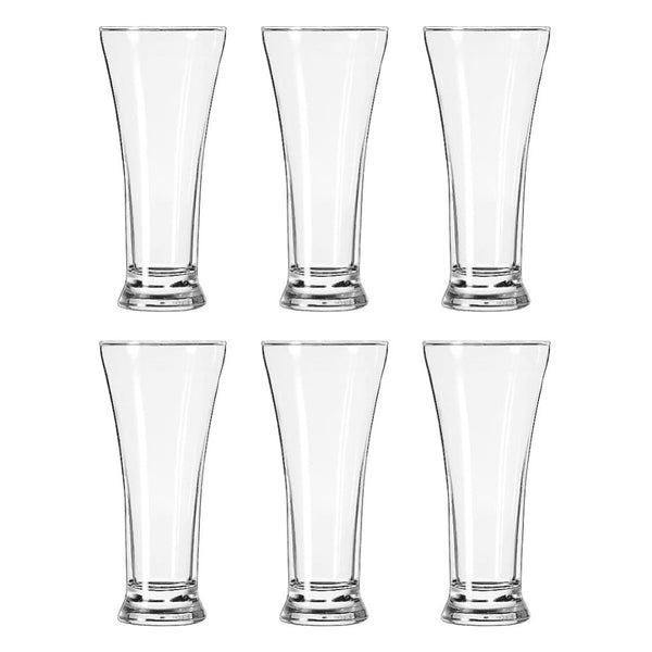Libbey Set of 6 Flare Pilsner Glasses