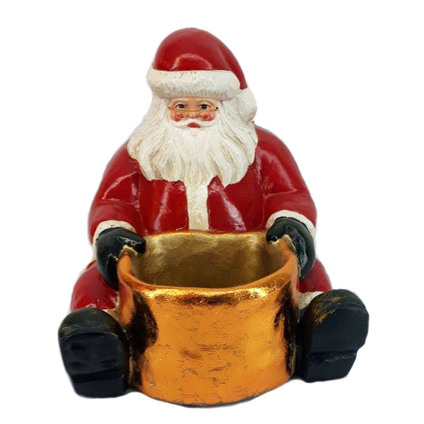 "16"" Resin Sitting Santa Claus"