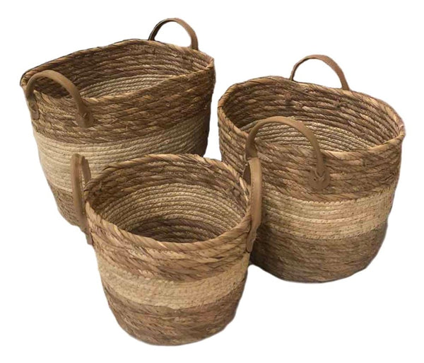 2 Toned 3-Piece Native Basket