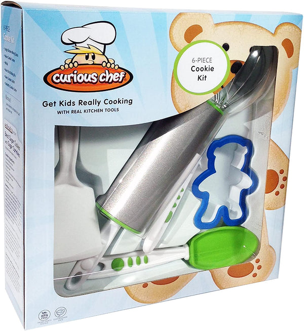 Curious Chef - 6-Piece Cookie Kit for Kids