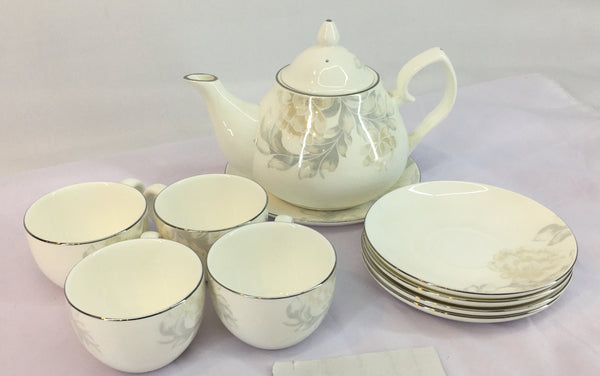 10-Piece Porcelain Tea set
