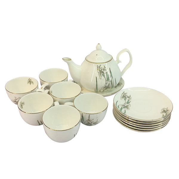 14-Piece Porcelain Tea Set