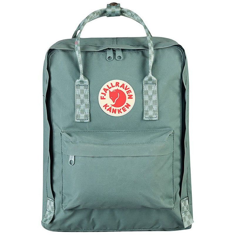 Kanken Classic Backpack | Forest Green - Chess Pattern