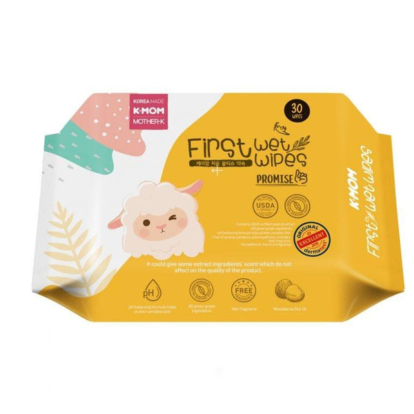 K-MOM FIRST PROMISE WET WIPES