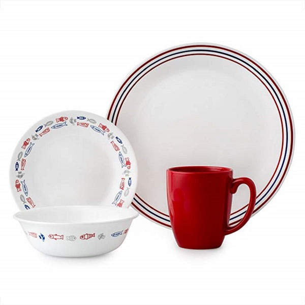 Corelle Livingware 16-pc. Set in Harbor Town design