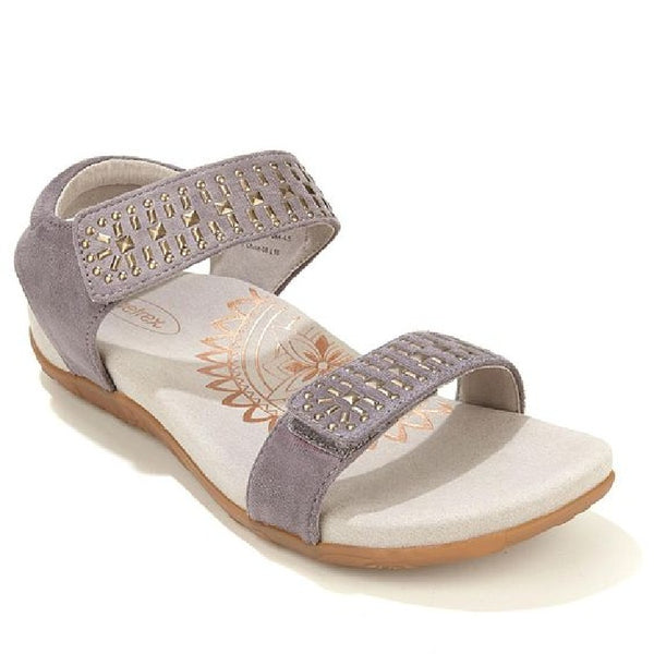 Aetrex Maria Adjustable Sandals in Gray