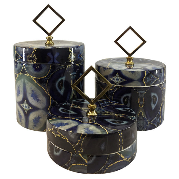 Decor | Set of 3 Ceramic Jars with Lid