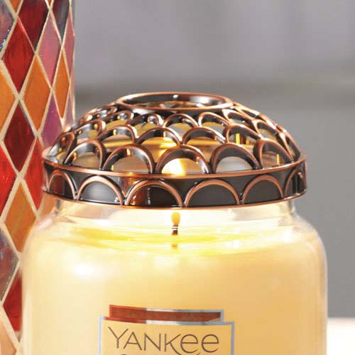 Yankee Candle Bronze Scallop Illuma-Lid® Jar Candle Topper