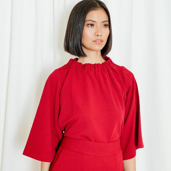 Canvas Selis Top in Red
