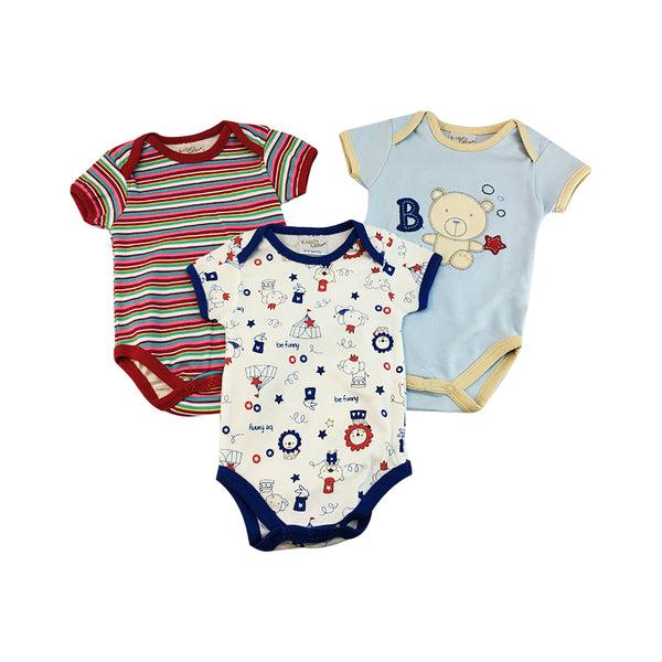 3-Piece Boys Romper Set