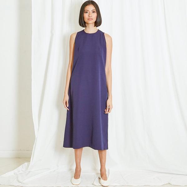 Canvas Sky Dress in Navy