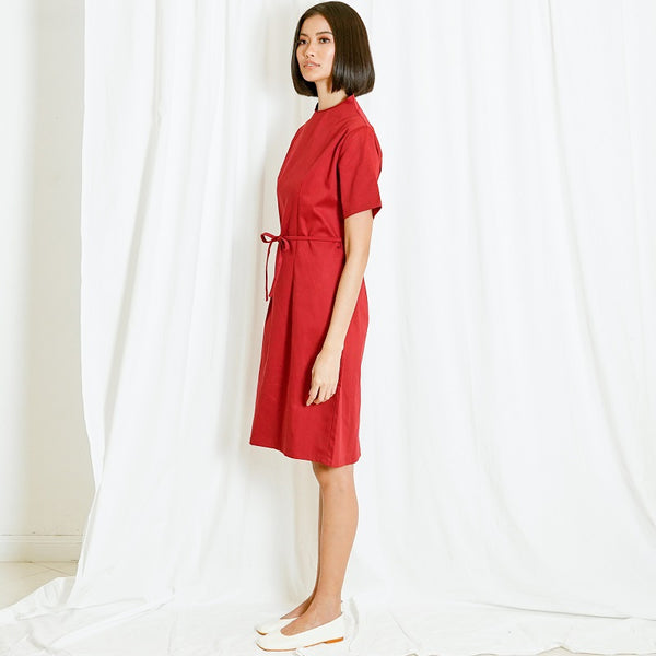 Canvas Dindi Dress in Red