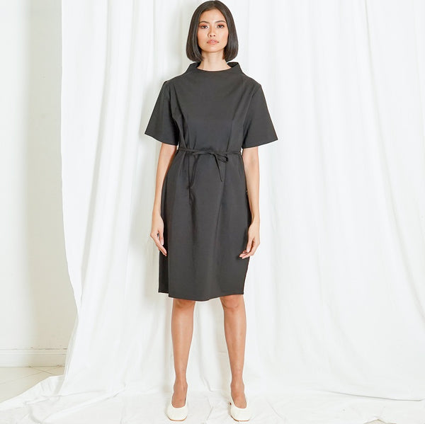 Canvas Dindi Dress in Black