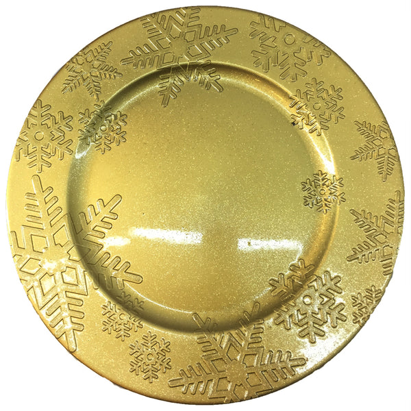 Charger plate with Snow Flakes Design