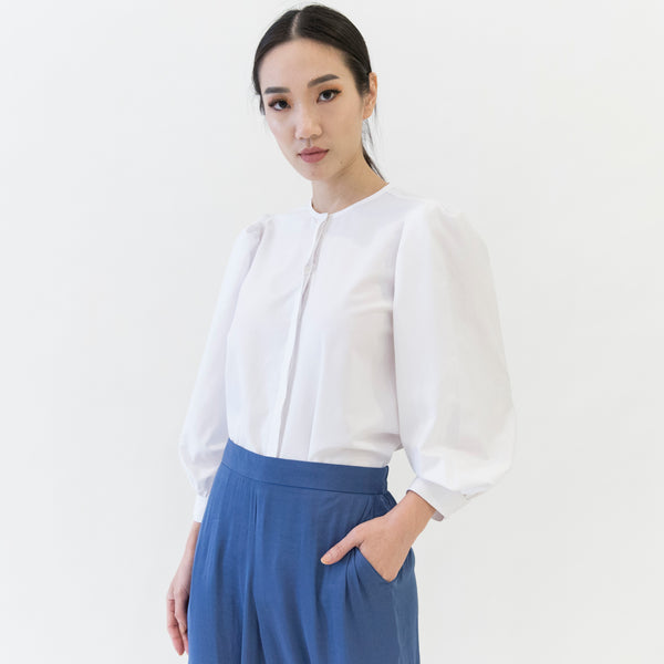 Canvas Orella Puffed Sleeve Shirt