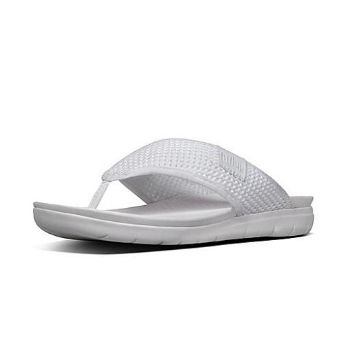 FitFlop Pool Slides Airmesh Sandals White