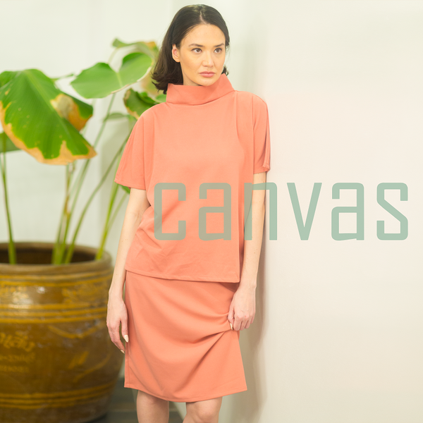 Canvas Arab Skirt in Coral