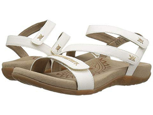 Aetrex Gabby Adjustable Sandal in White (6)