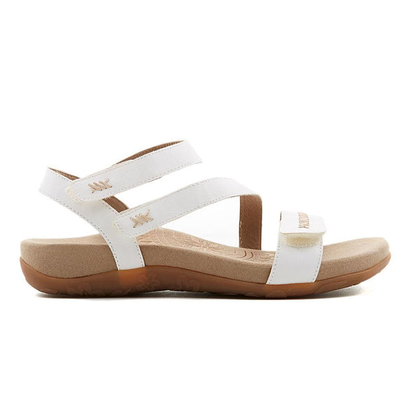 Aetrex Gabby Adjustable Sandal in White