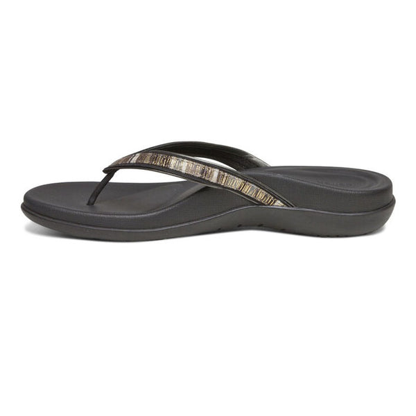 Aetrex Gwen Thong Sandal in Black