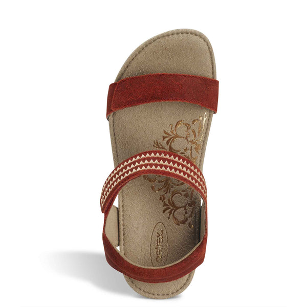 Aetrex Capri Sandals in Cayenne
