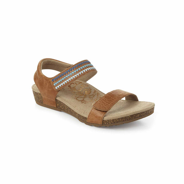 Aetrex Capri Sandals in Cognac