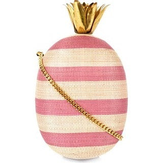 Aranaz Piña Tinalak Pink Stripes with Brass Crown