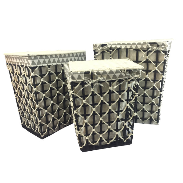 3-Piece Laundry Hamper Set
