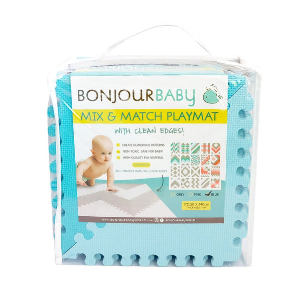 Bonjour Baby Mix and Match Playmat (Blue)
