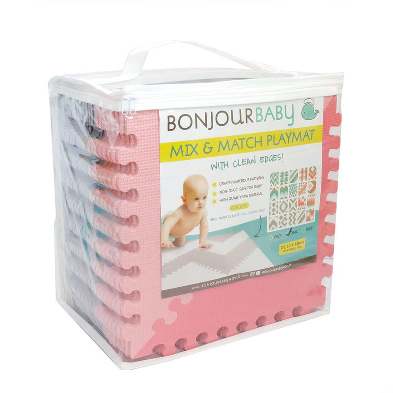Bonjour Baby Mix and Match Playmat (Pink)