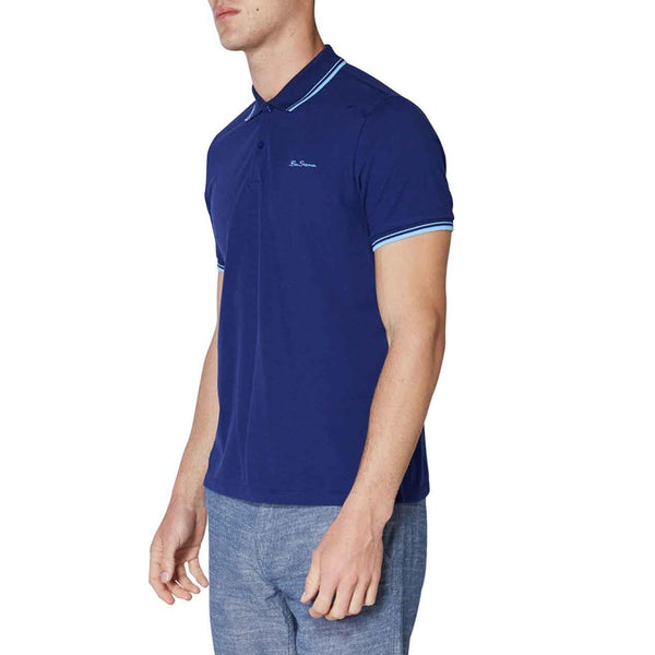 Ben Sherman Basic Script Polo Shirt with Tipping | Assorted Colors