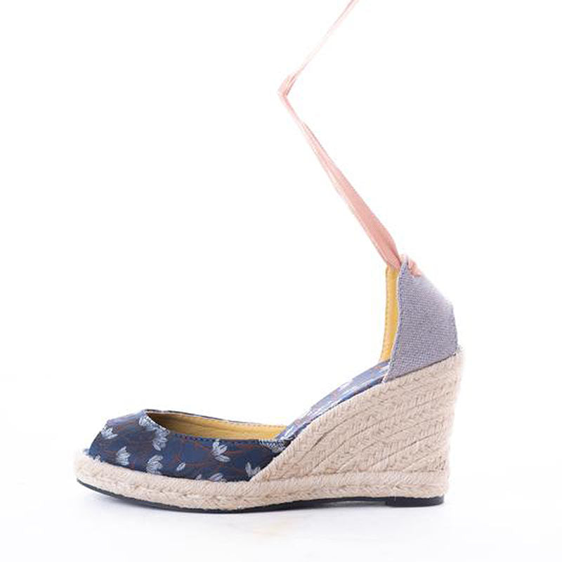 Daily Schedule Lace Up Espadrille (Brocade Blue)