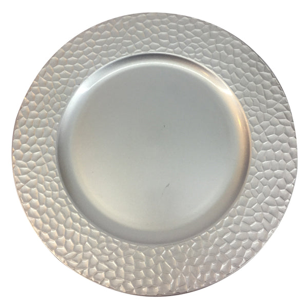 Charger Plate with Crackled Edge
