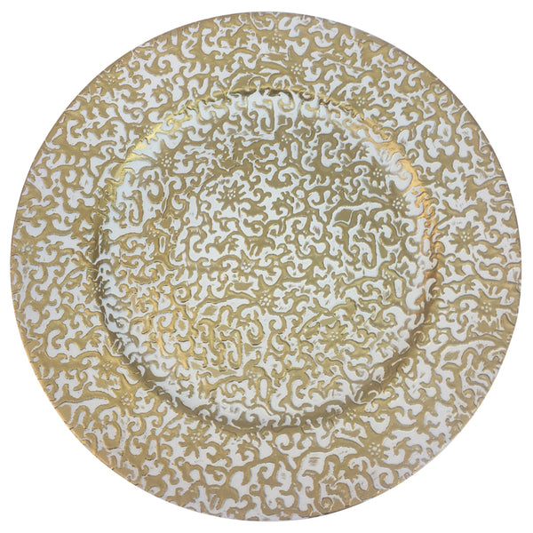 DLY CHARGER PLATE WITH VINTAGE DESIGN