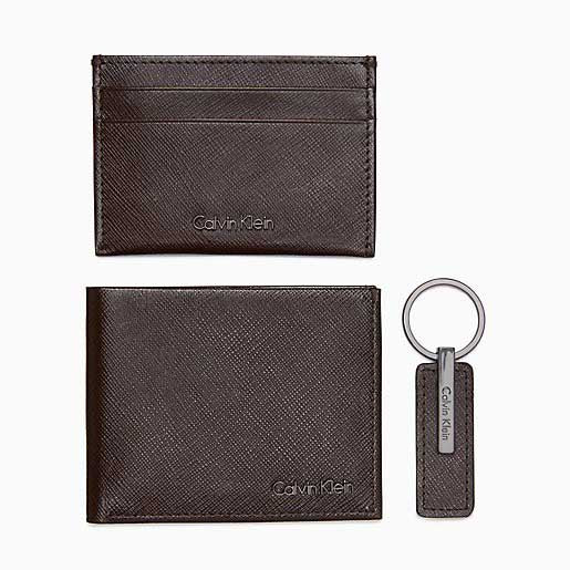 Calvin Klein 3-pc. Saffiano Leather Gift Set