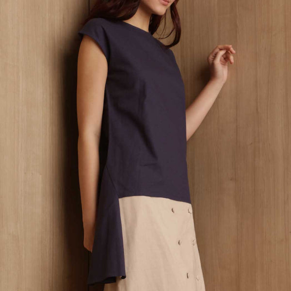 Canvas Agatha Top in Navy