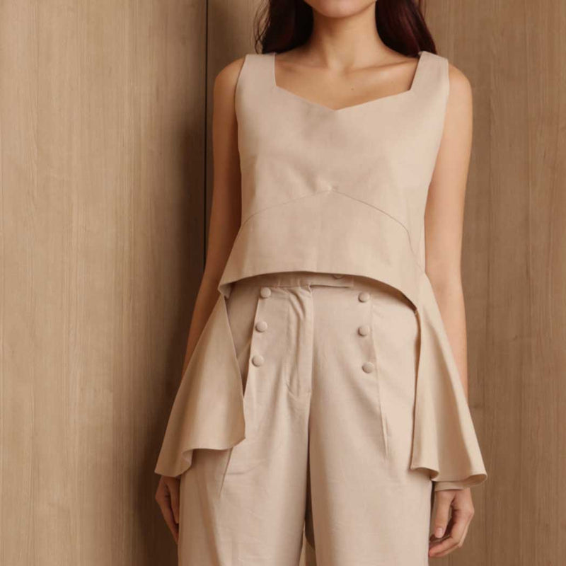 Canvas Agda Top in Oat