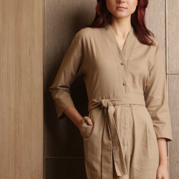 Canvas Akira Jumpsuit in Chestnut