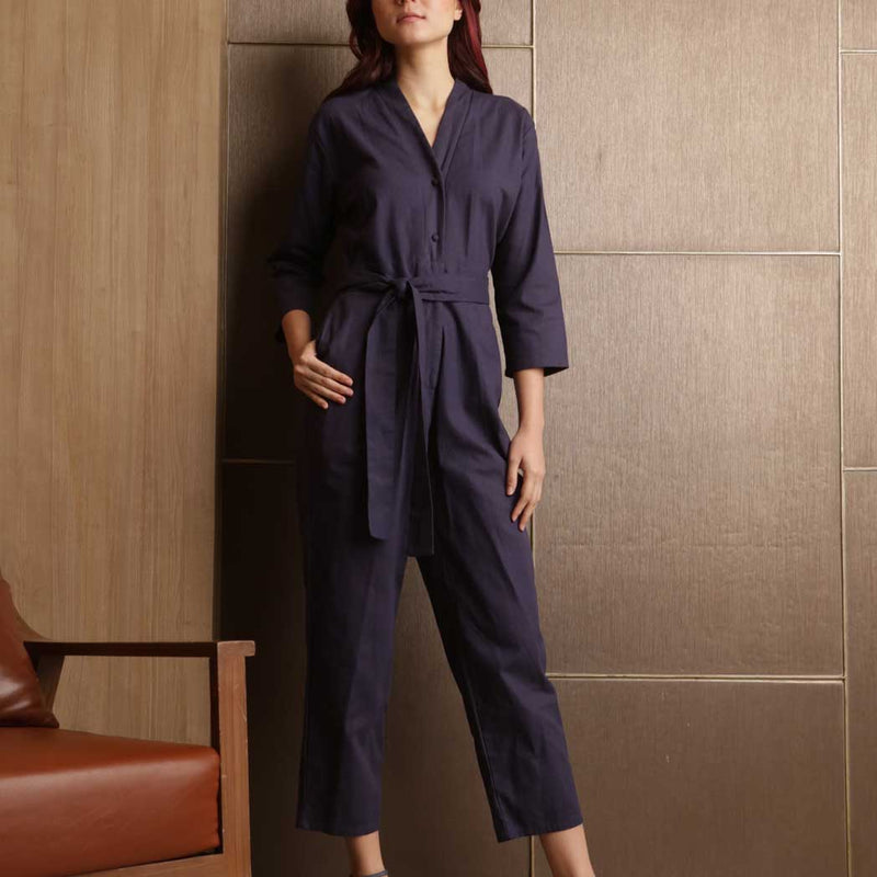 Canvas Akira Jumpsuit in Navy