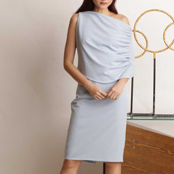 Canvas Alcina Dress in Baby Blue