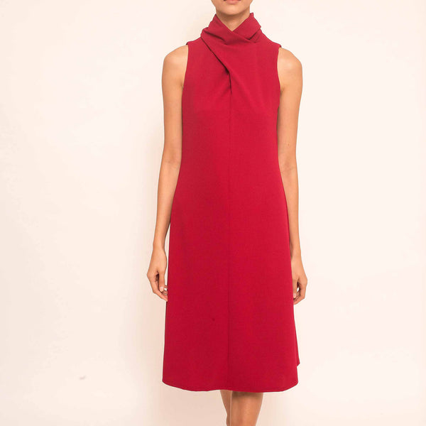 Canvas Astrid Dress in Red