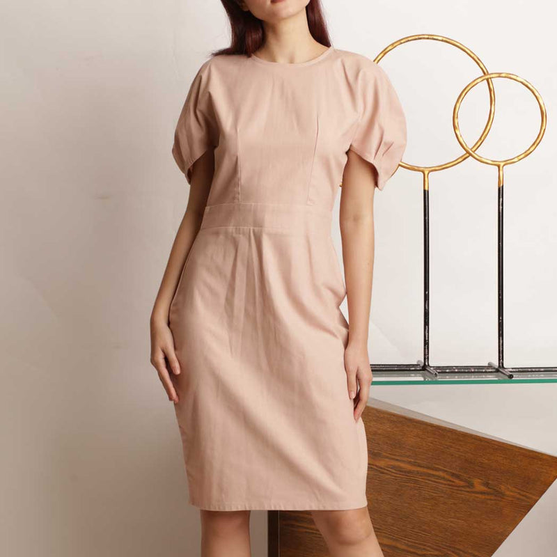 Canvas Caprice Dress in Nude Blush