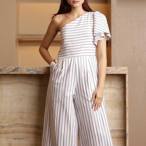Canvas Eliana Jumpsuit in White