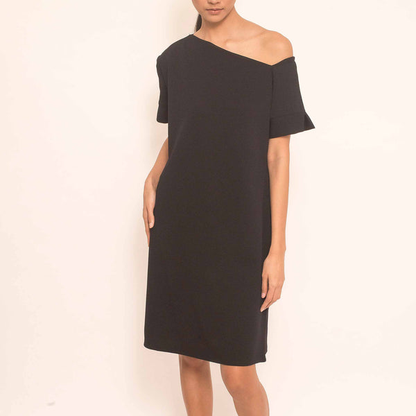 Canvas Jerusha Dress in Black