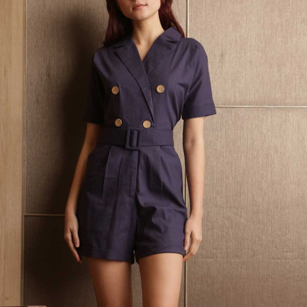 Canvas Orphea Playsuit in Navy