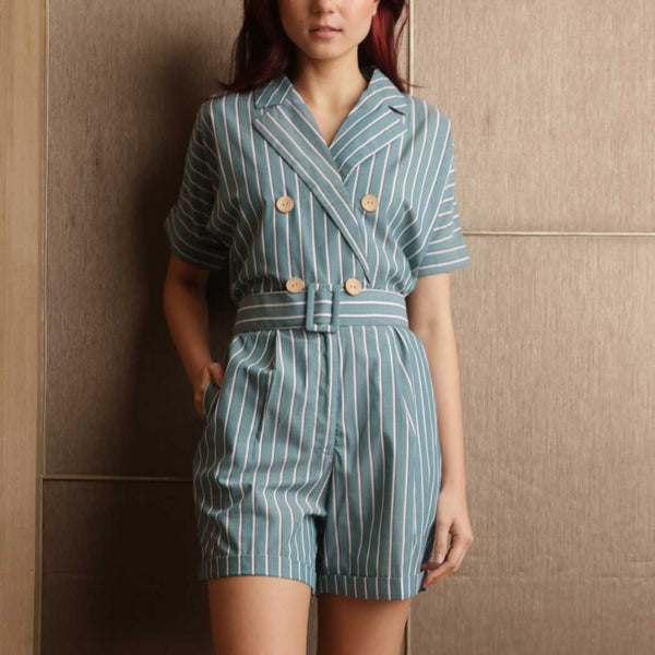 Canvas Orphea Playsuit in Stripes