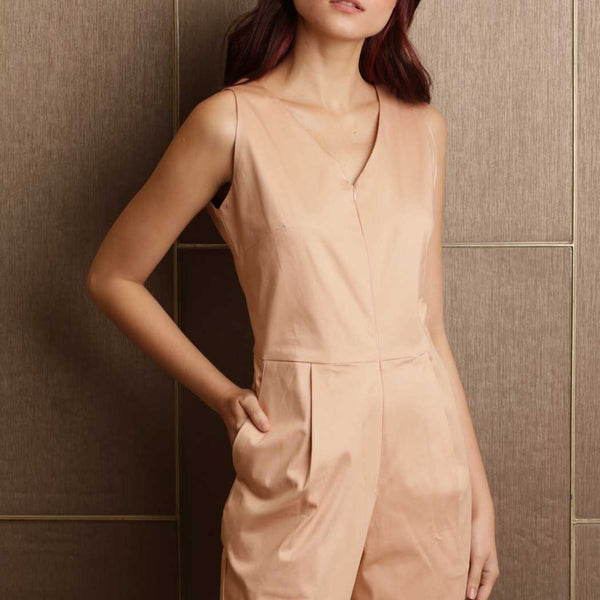 Canvas Phyllis Jumpsuit in Nude Blush